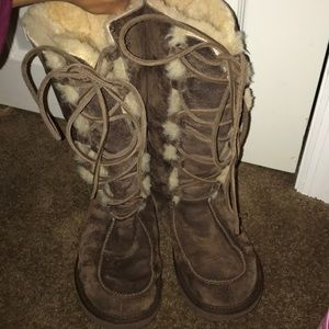Tall lace-up UGGS